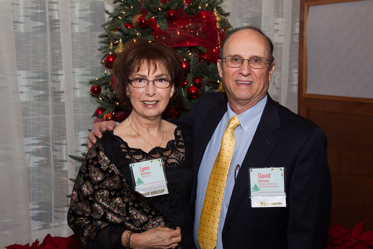 Lynn and David Nicholas, Medal of Merit Honoree