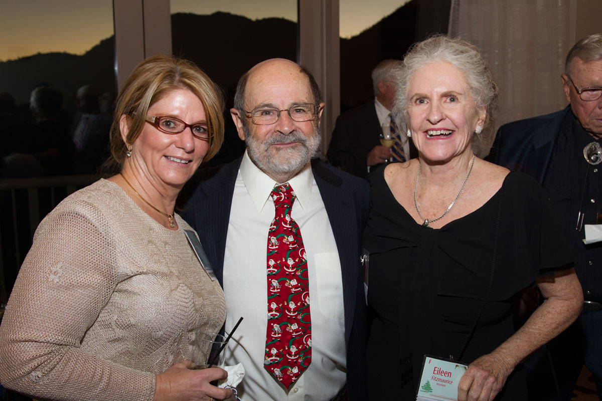 American Mining Hall of Fame Inductee flanked by Susan Wick and Eileen Fitmaurice