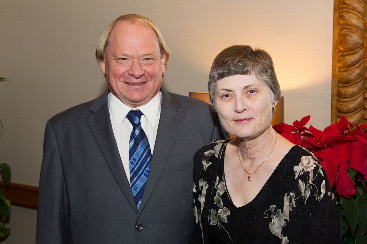 Rod Woodcock with his wife, Colleen Kelley