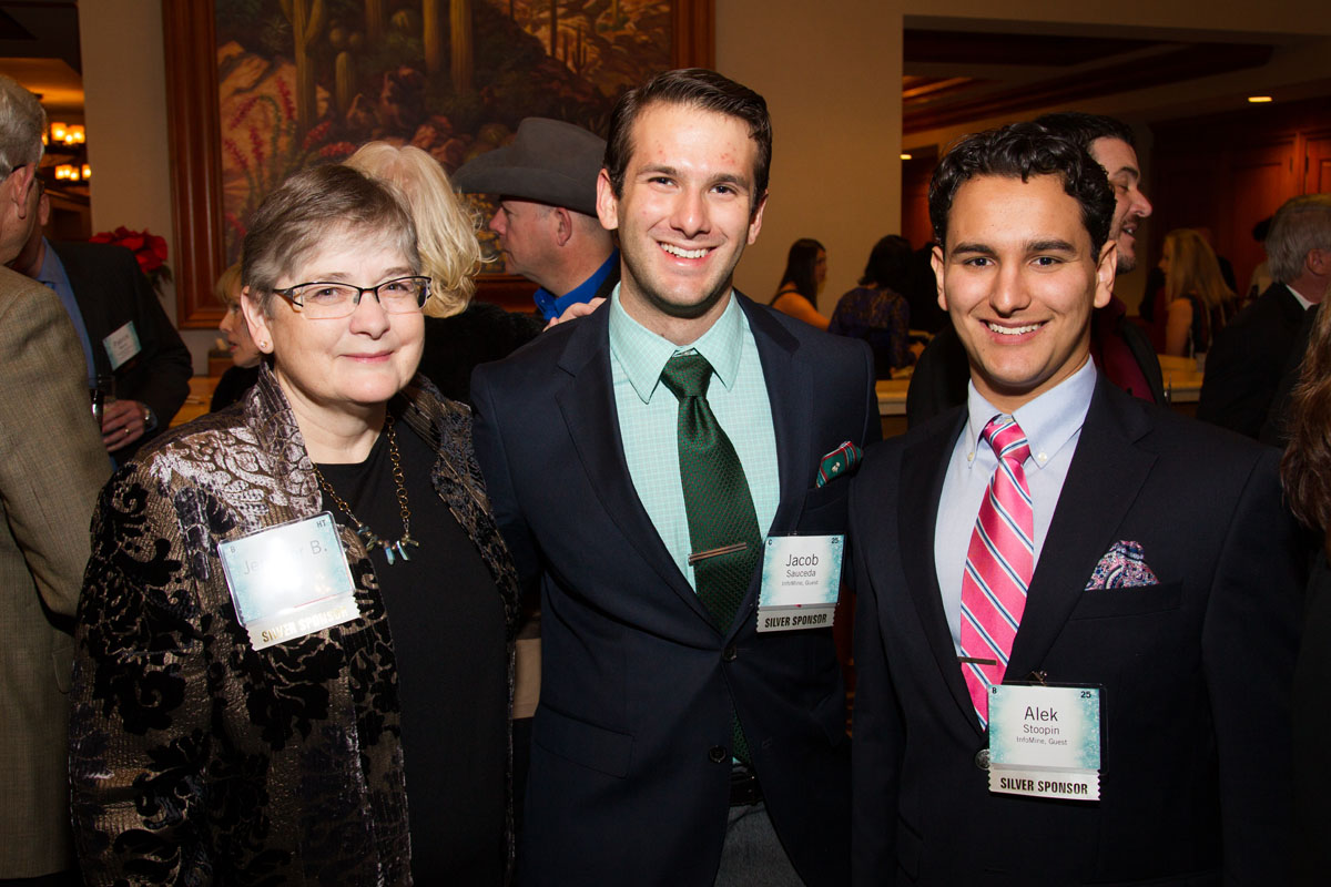 Jennifer Leinart, President of InfoMine with interns, Jacob Saucedo and Alek Stoopin