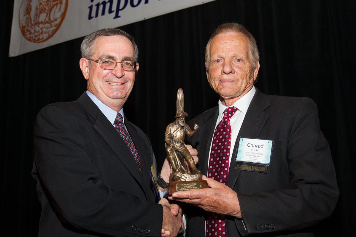 John Fenn with American Mining Hall of Fame Inductee, Conrad Huss