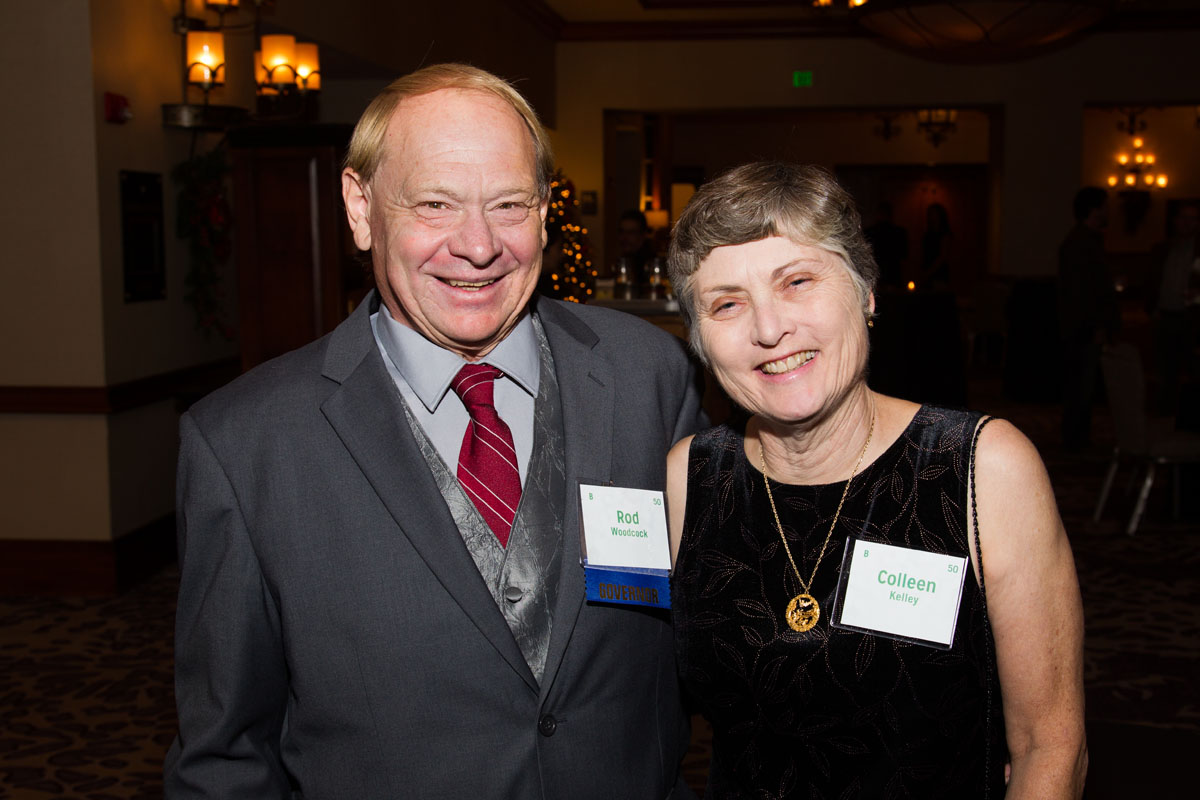 Board member Rod Woodcock with wife, Colleen Kelley