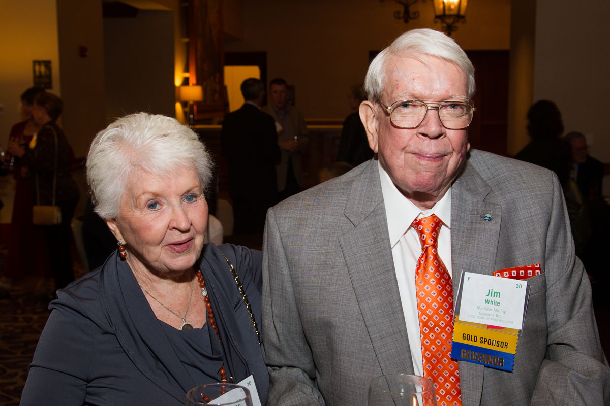 Board Member Jim White with Sharon Laird